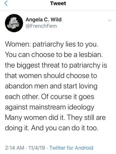 Patriarchy Lies Tweet