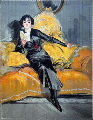 A lady reads