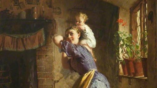 George Elgar Hicks The Happy Mother 1886 E1545071745935