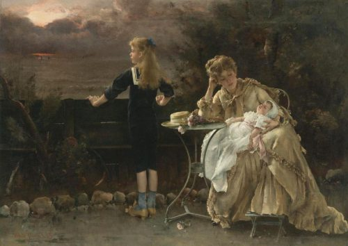 Mother And Her Children By Alfred Stevens 1883