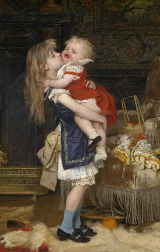 Little Girl With Baby